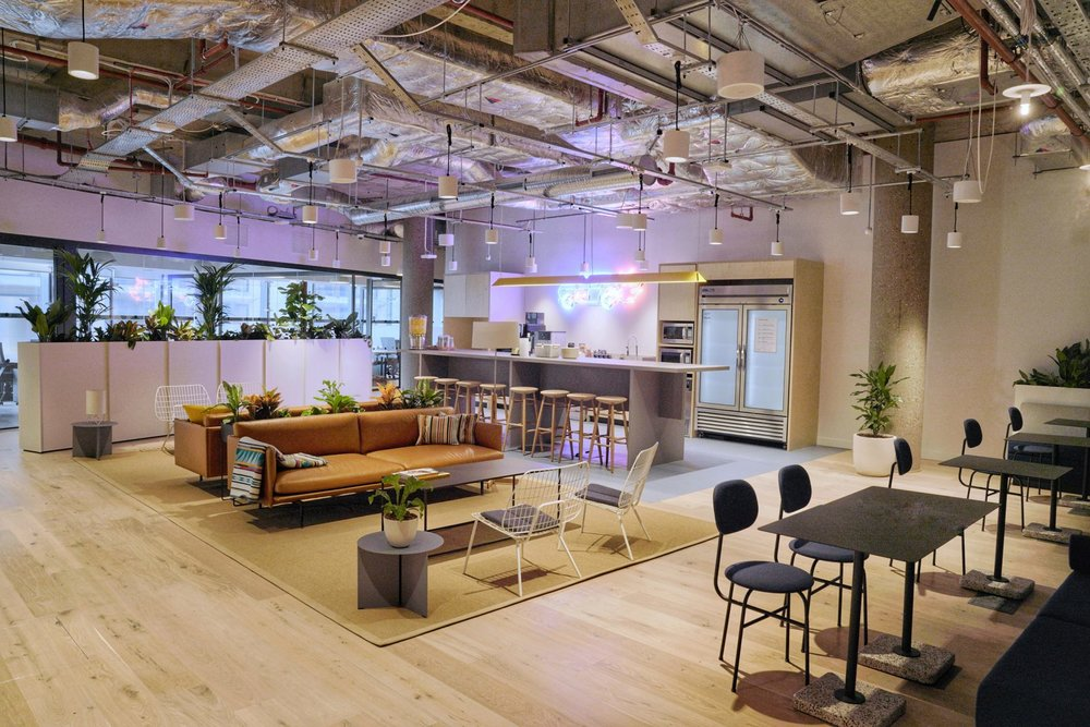 WeWork's new shared working space in London's No 1 Poultry, one of the UK's most significant postmodern buildings.