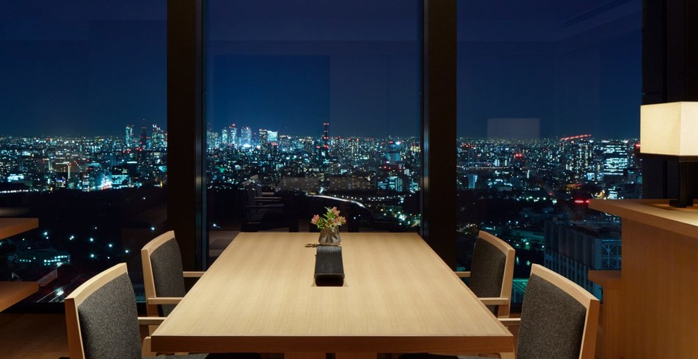 One of the spectacular views enjoyed from the hotel's corner suite.