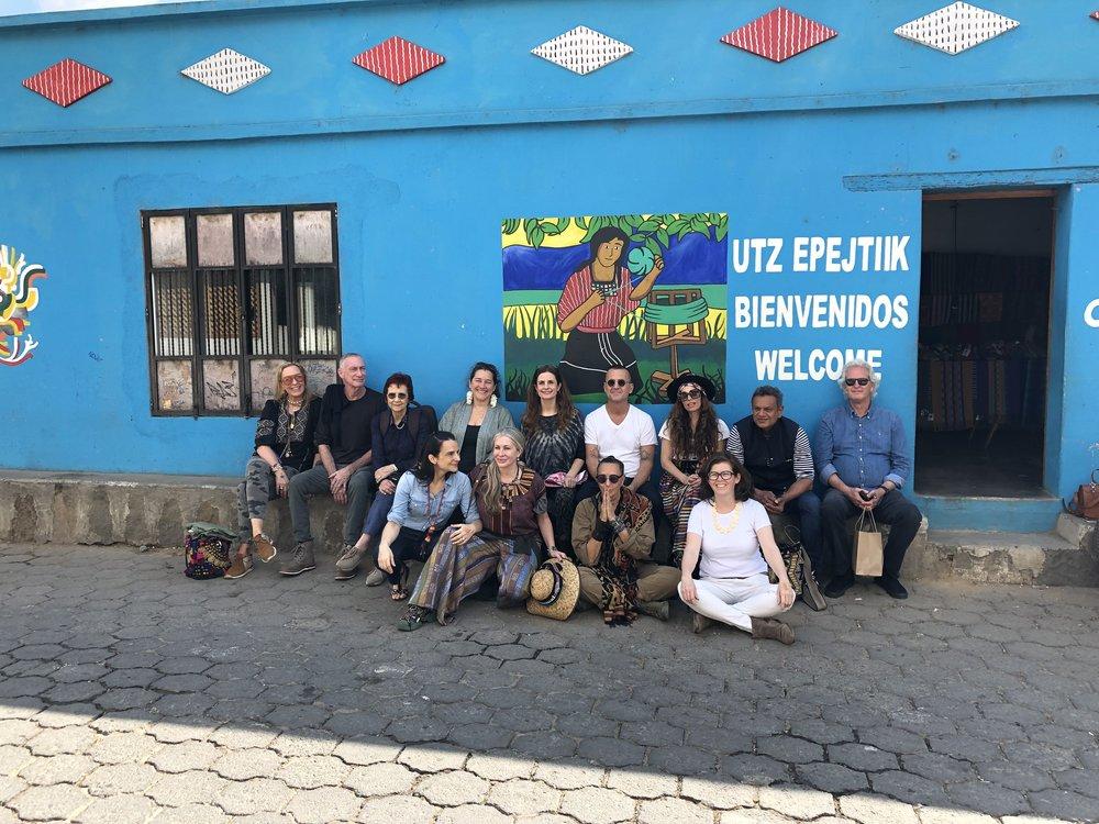 Our first day in Guatemala, visiting the Utz Epejtiik artisanal cooperative with Stephanie von Watzdorf, John Skipper, Celina de Sola, Livia Firth, Steven Kolb, Carolina Kleinman, Marianne Hernandez, Donna Karan and I.