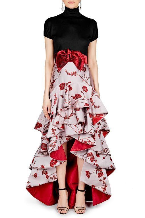 JOHANNA ORTIZ  Bowie Belted Jacquard Skirt  Rental Price £325