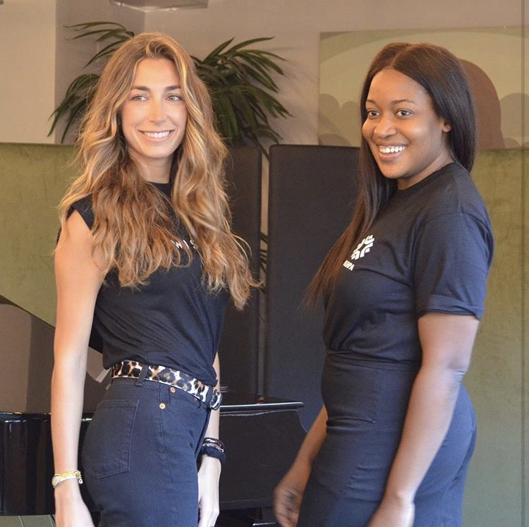 Wishi's Clea O'hana Harroch with a fellow successful Dream Assembly applicant at last year's Demo Day in London / Photo: @dreamassemblyff.