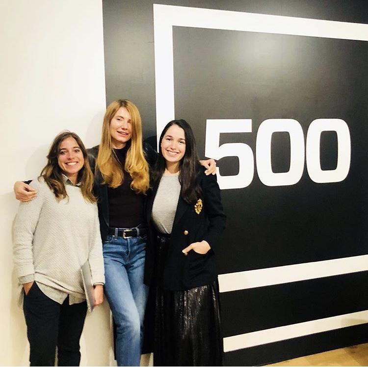 Julia Guidish Krieger of Villageluxe (R) taking part in 2018's 500 Start Ups marketing program / Photo: @dreamassemblyff.