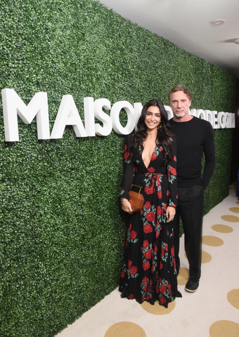 Water Thru Skin's Valeria Hinojosa with Brazilian designer Oskar Metsavaht.