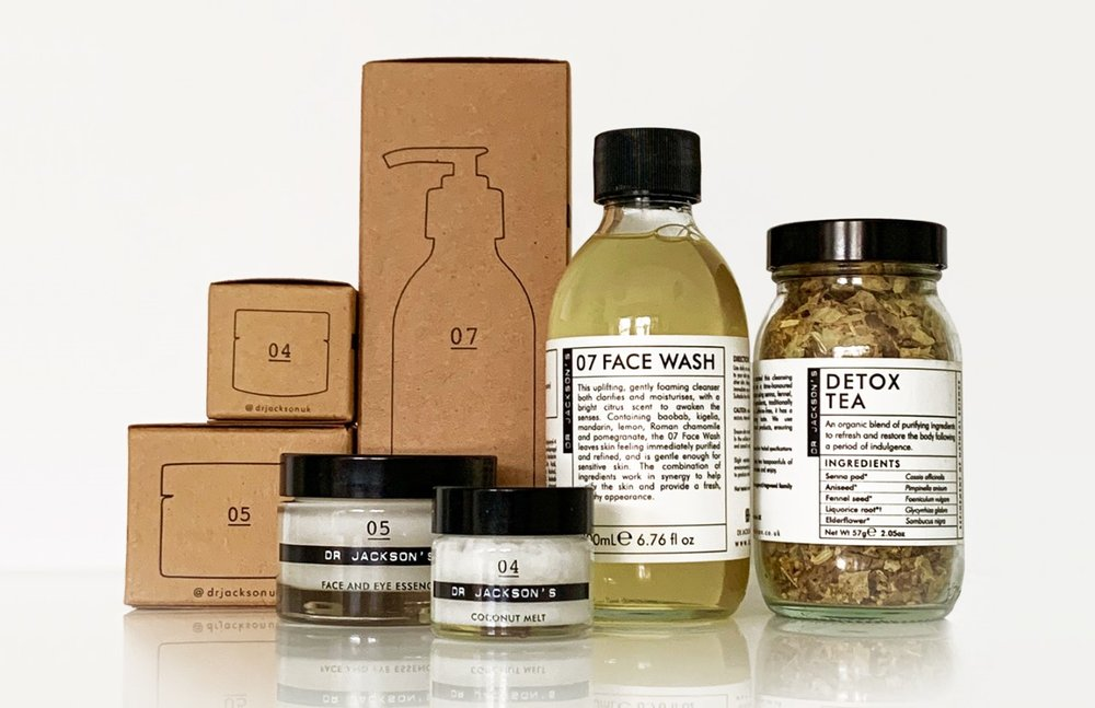 Dr Jackson's award-winning products.