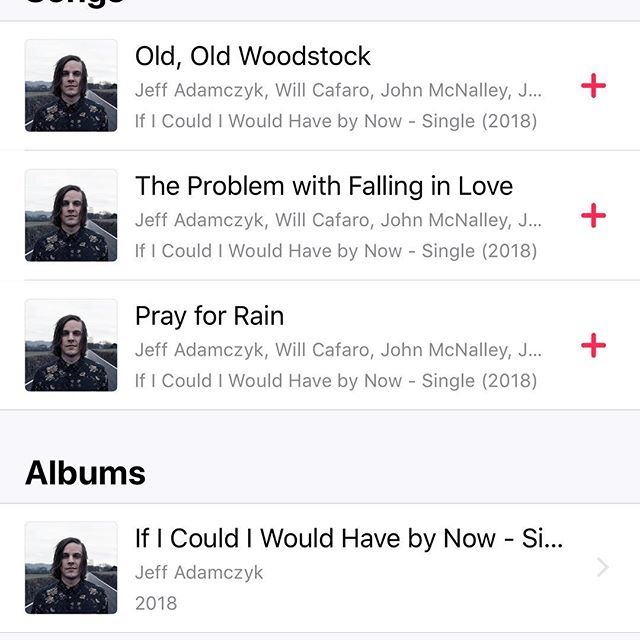 "The first 3 songs from my record ""If I Could I Would Have By Now"" are out today! I'll spare you the sappy post, but this means a lot to me and I appreciate all the support I've been given by friends and family over the process of making it and all of the time, effort and skills that everyone lent me on this. #newmusic"