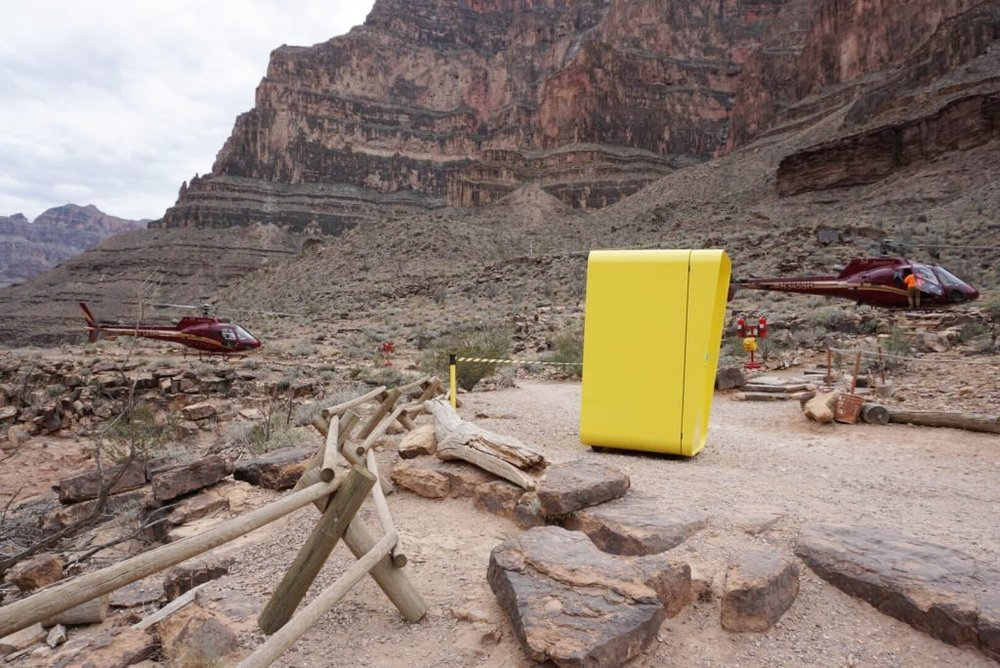 Only out a week, they are making them hard to get to! This Snapchat Spectacles Snapbot location was off the grid and accessible only by Sundance helicopters.
