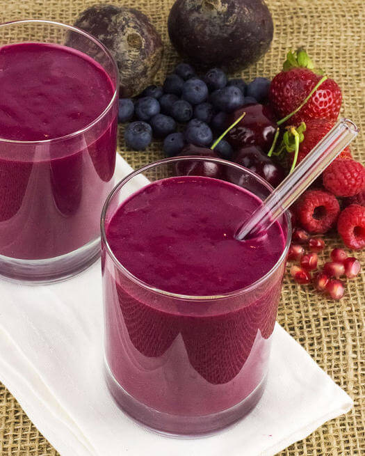 Jump start your day with the Purple Power Smoothie from FitnessMagazine.com