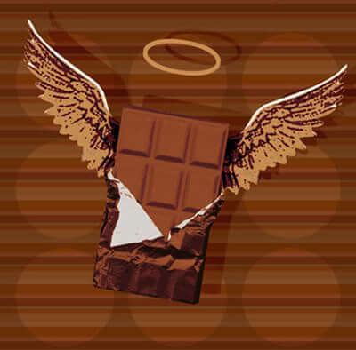 Try having a square of chocolate to beat the cravings, and resist eating the whole bar.