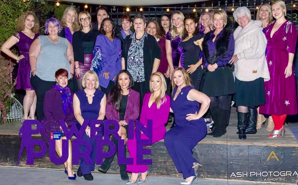 Power In Purple Women 2019-Raising Funds for the American Cancer Society