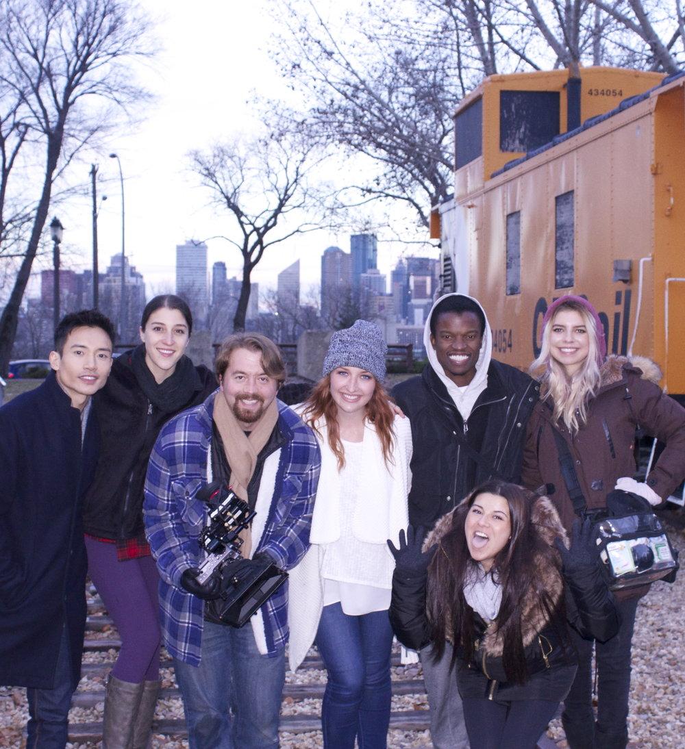 Left to Right: Manny Jacinto, Mary Rachel Gardner, Ferg Sauve-Rogan, Brittney Grabill, Josh Ssettuba, Jessica Dubauskas and bottom is silly Hailey Fatu