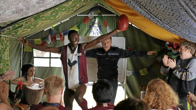 """The Merger - Somerset House, Sat 1 Dec, 5:30pm Tickets hereScreened in partnership with IOM, UN Migration Agency and the Global Migration Film FestivalA former star footballer turned community outcast is persuaded to coach the struggling, local footy team in his small town in Australia. He recruits refugees to revive the team with hilarious results, and ultimately takes his community on a journey of change. Funny and moving, this film brings loveable characters and levity to a complex issue.Xenophobia, socio-economic challenges and """"the good old days"""" are some of the very real subjects addressed in the Australian comedy """"The Merger"""". Building on themes of shared interests and integration as a two-way street for both refugees/migrants and the communities where they live.The film will be followed by panel discussion with: Ahmad Al-Rashid (Syrian refugee; IOM), Kevin Coleman (England's Football Association), Dr Mark Doidge (University of Brighton), and Shaista Aziz (Oxford Diversity League; Oxford City Councillor)"""