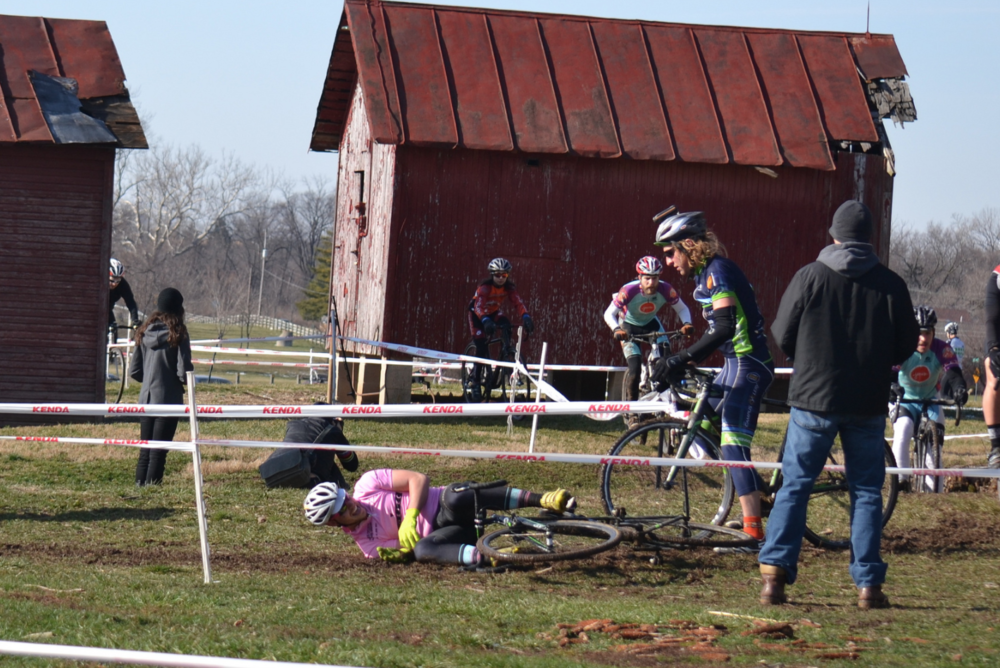 If your buddy falls, whether you racing or spectating, help him up!