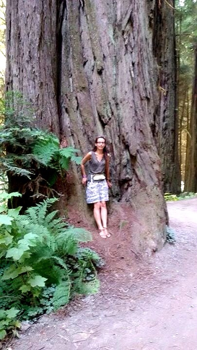 Cécile in Redwood Forest