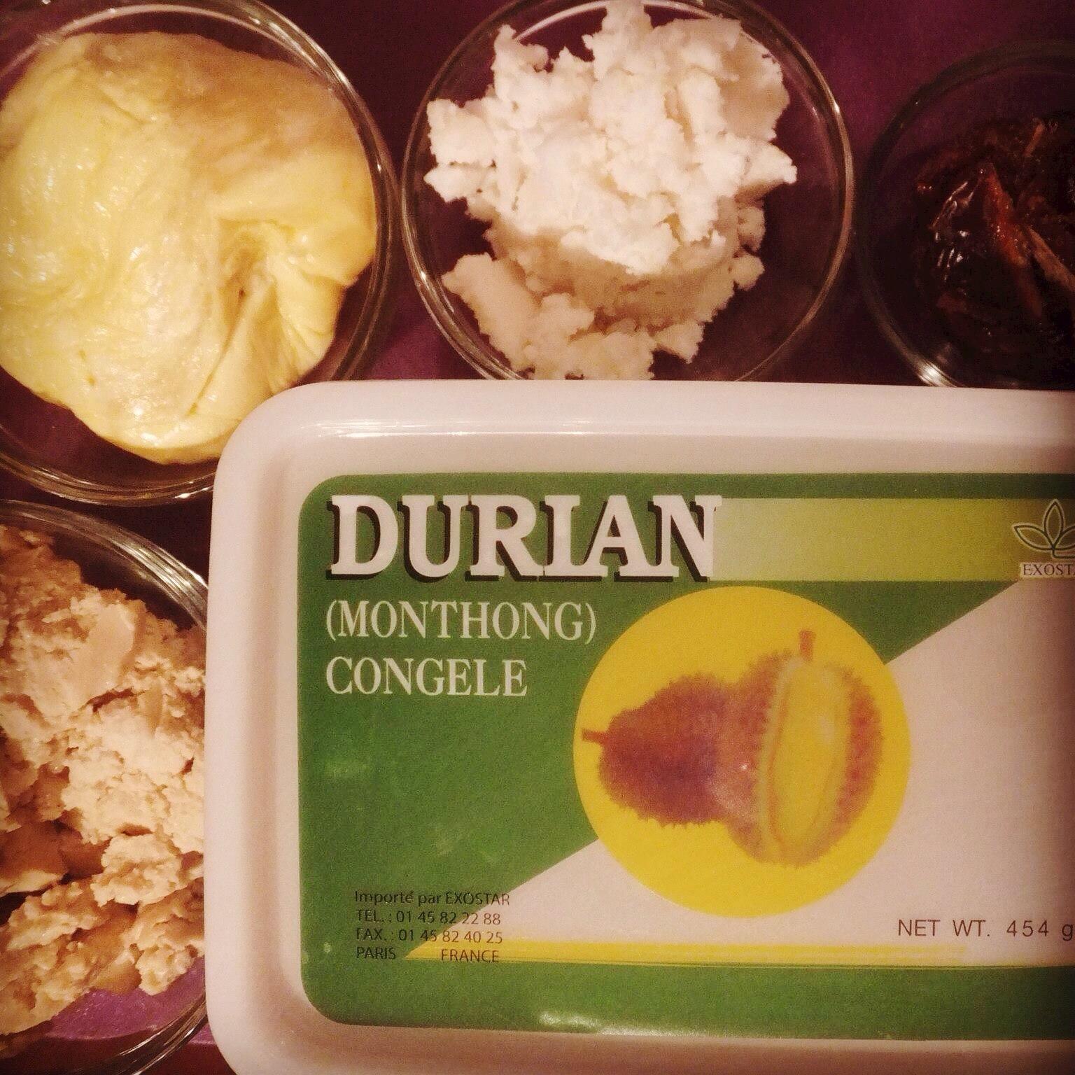 Durian fudge ingredients