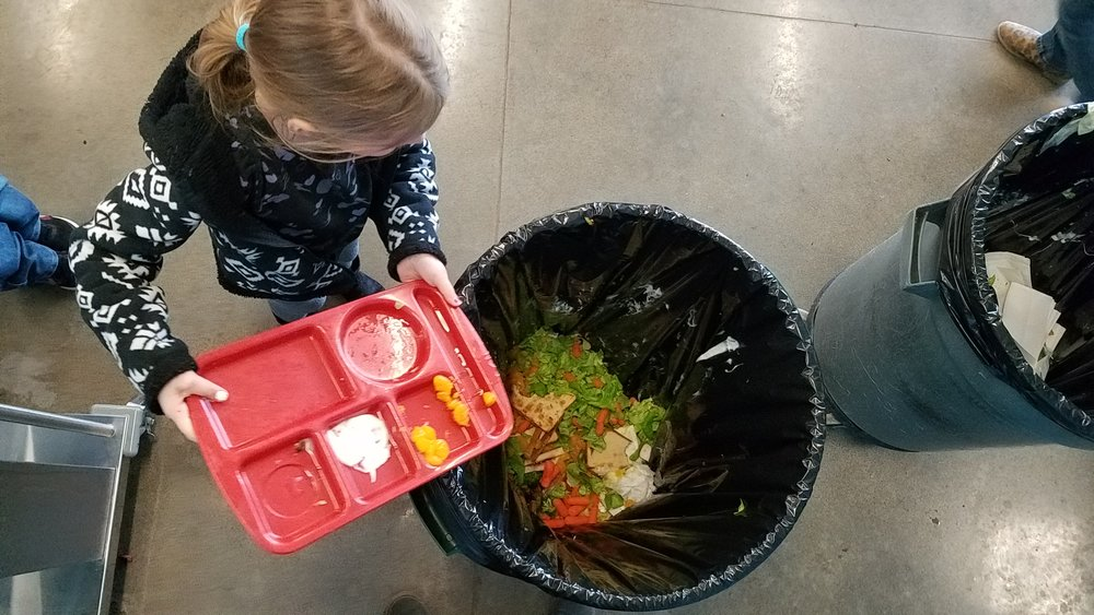 During the Cordley food waste audit students learn what foods can be composted and what parts of their meals go to the landfil