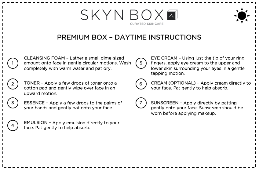 Premium Mini Box Daytime Instructions