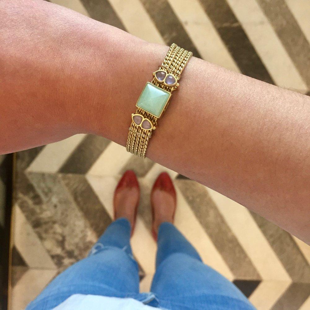 Mesh Bracelet + Healing Stones