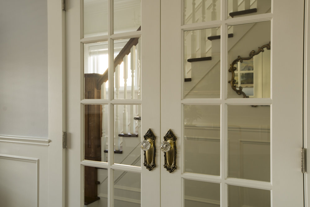 French Doors Replace An Open Doorway From Hallway To Dining Room, Without  Feeling Closed Off