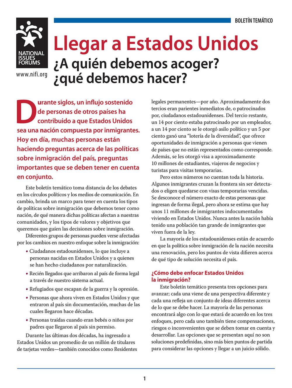 ISSUE ADVISORY (SPANISH)