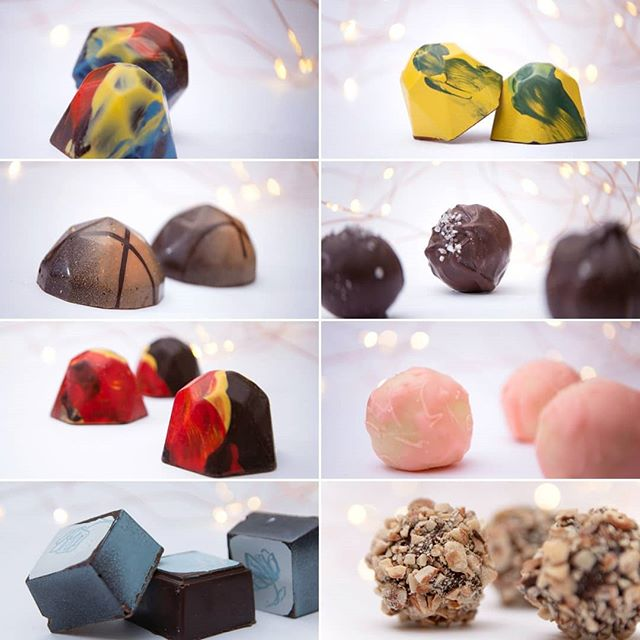 A sweet treat to shoot these visually pleasing and equally delicious chocolates from Cocoabistro @chocolatewithlove 🍫💝🍬 #cocoabistro #chocolates #artisanchocolate #darkchocolate #treats #chocolatephotography