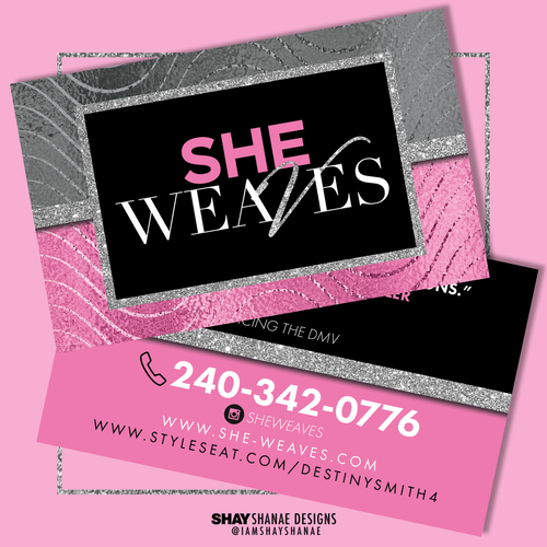Double sided business cards design print shay shanae designs double sided business cards design print reheart Image collections