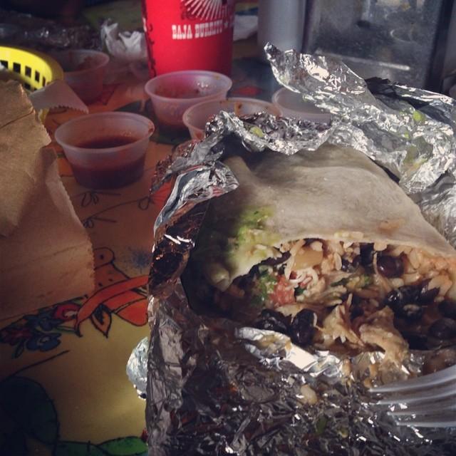 Nashville. First stop, Baja Burrito.