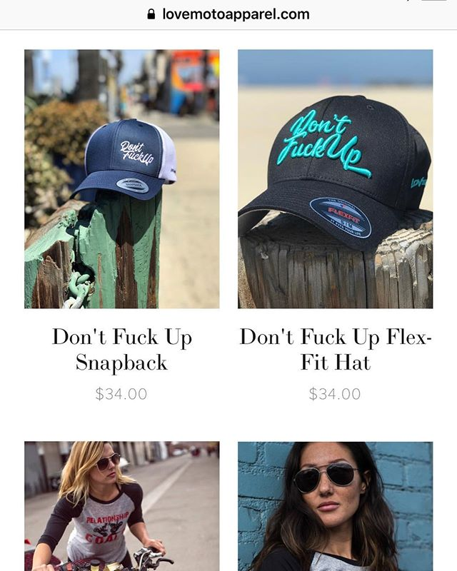 They are online! #dontfuckup #lovemotoapparel