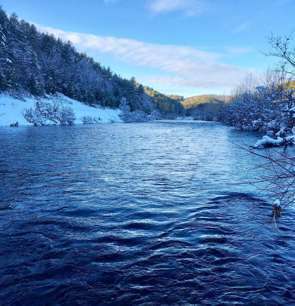 Gorgeous view of the New River after the season's first snowfall.