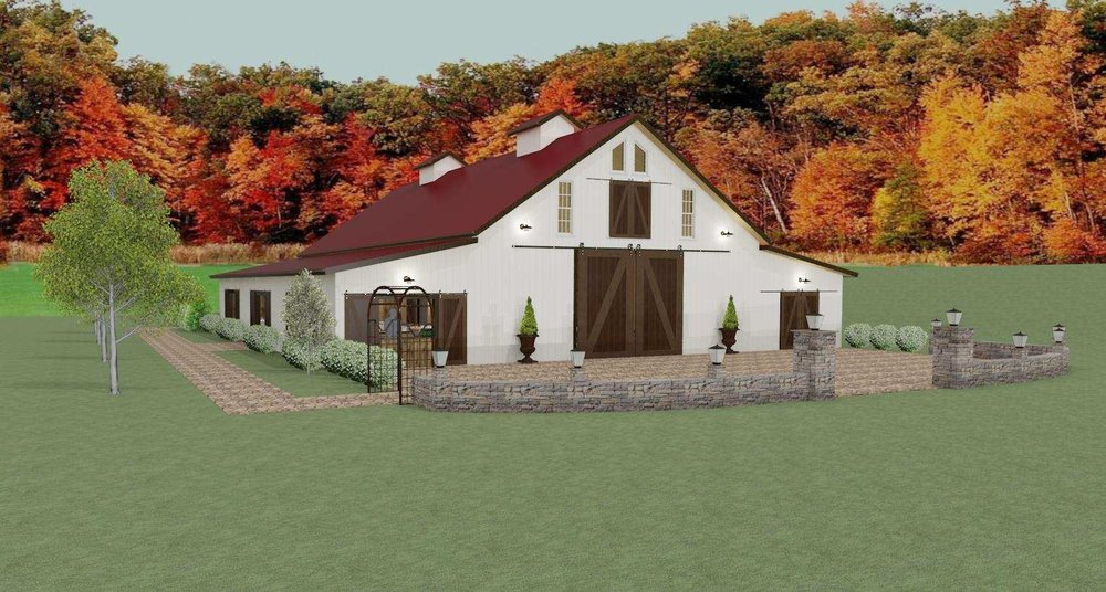 The latest construction rendering of The Barn on New River.