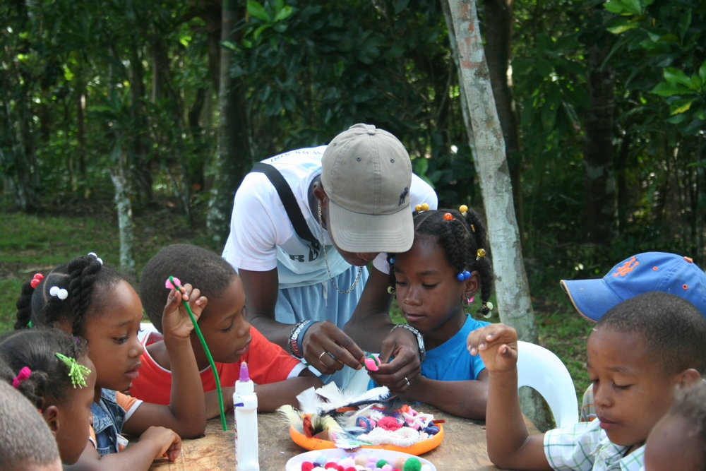 Dominican volunteer atcamp