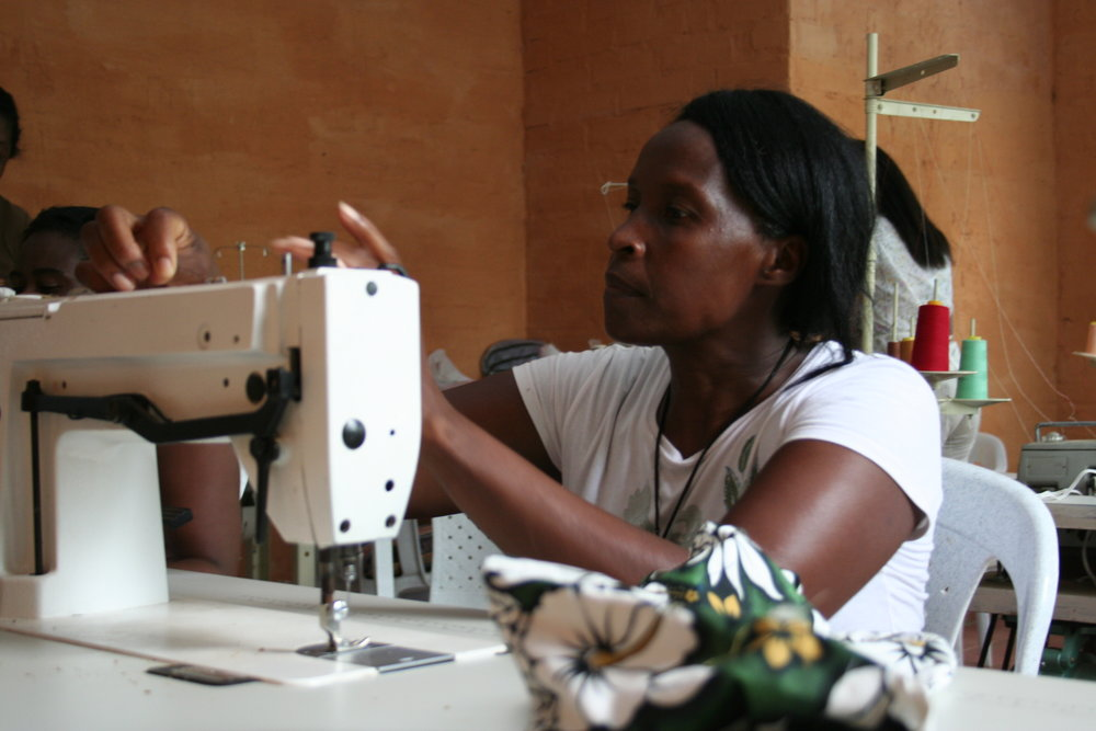 Antonia sewing