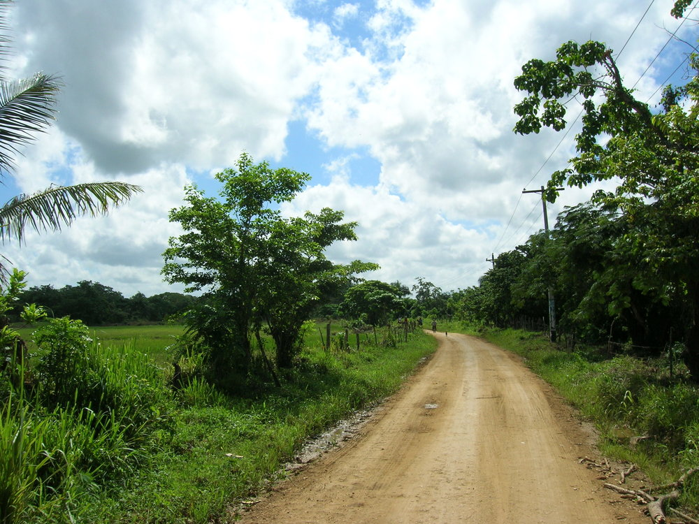 The dirt road in Cruz Verde