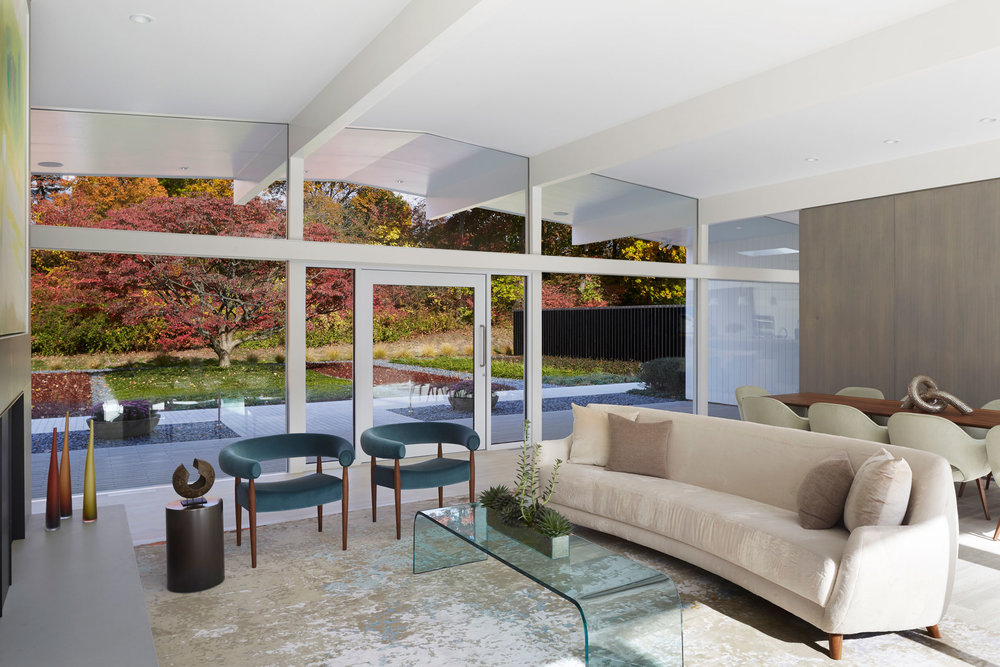 Living Room - Mid-century Modern House