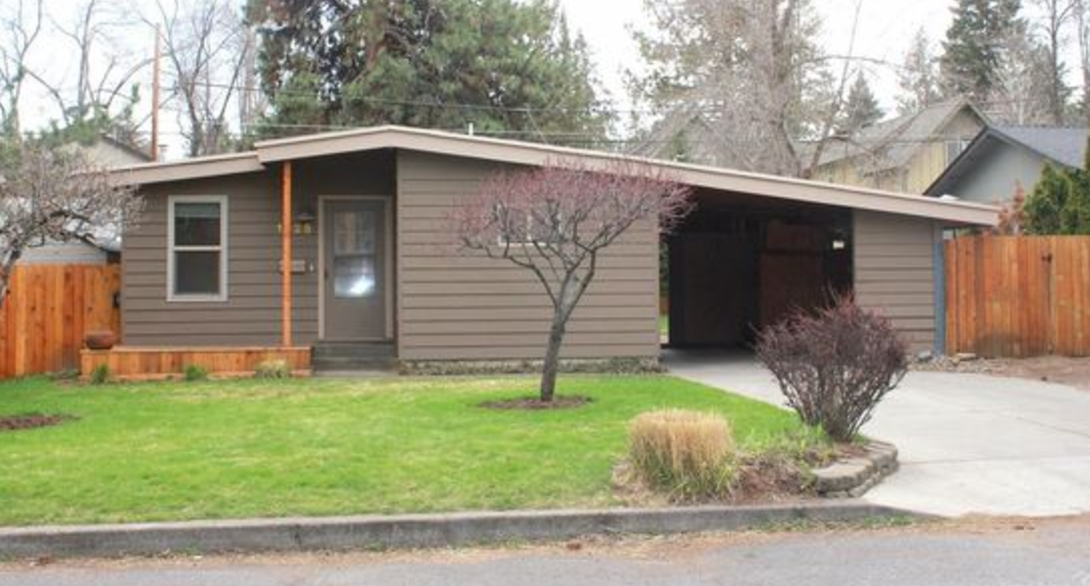 Mid-Century modern starter home in Bend, OR                     Image from Zillow