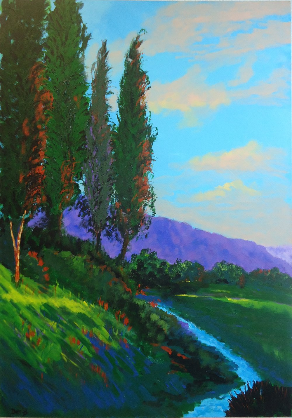 Carmel Valley Ranch , Acrylic on canvas, 100 x 70 cm