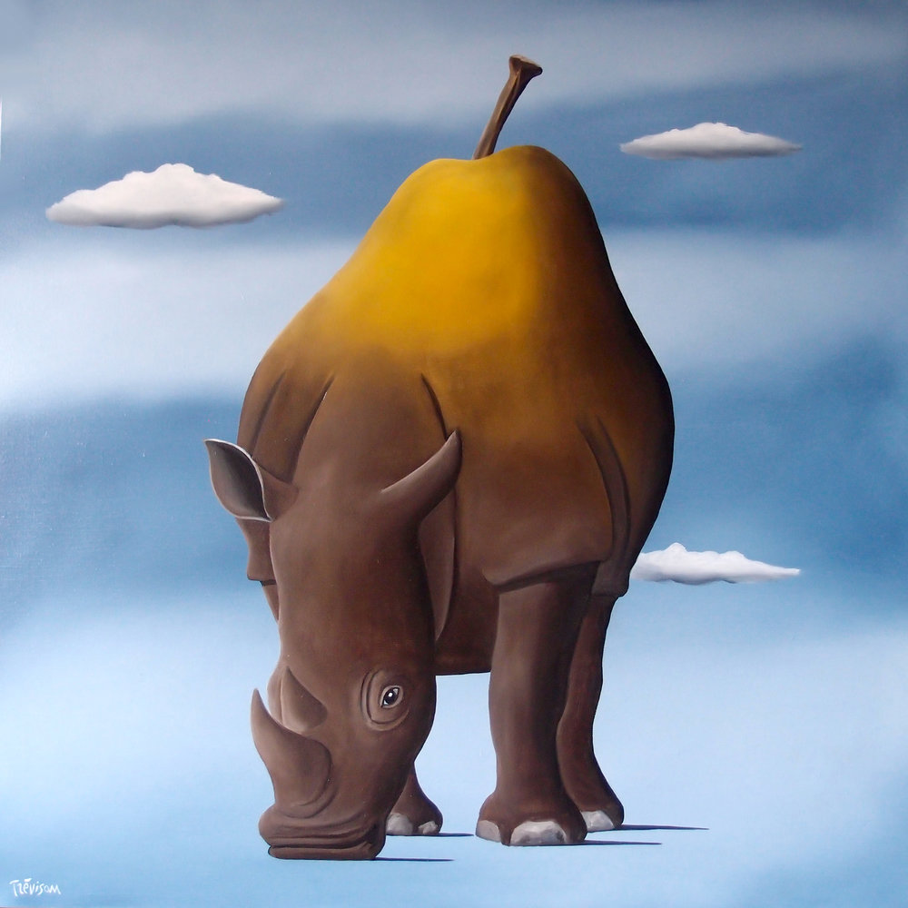 Rhino Pear , Oil on canvas, 60 x 60 cm