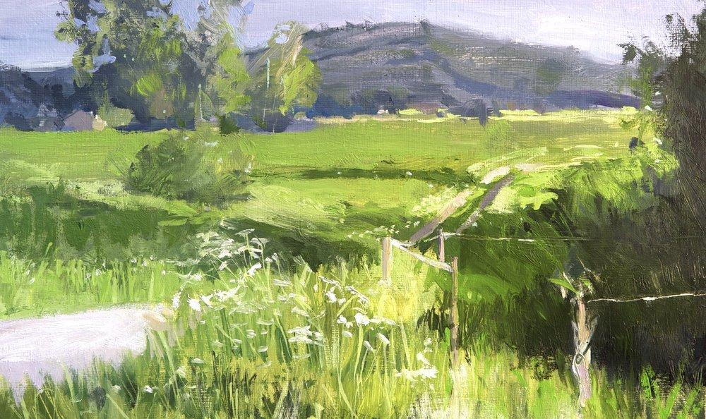 Dog Walking II, 30 x 40 cm, Oil on Canvas, £400