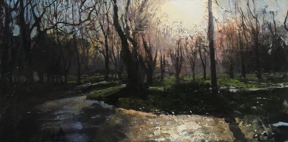 Hyde Park Corner, 15 x 30 cm, Oil on Canvas, £600
