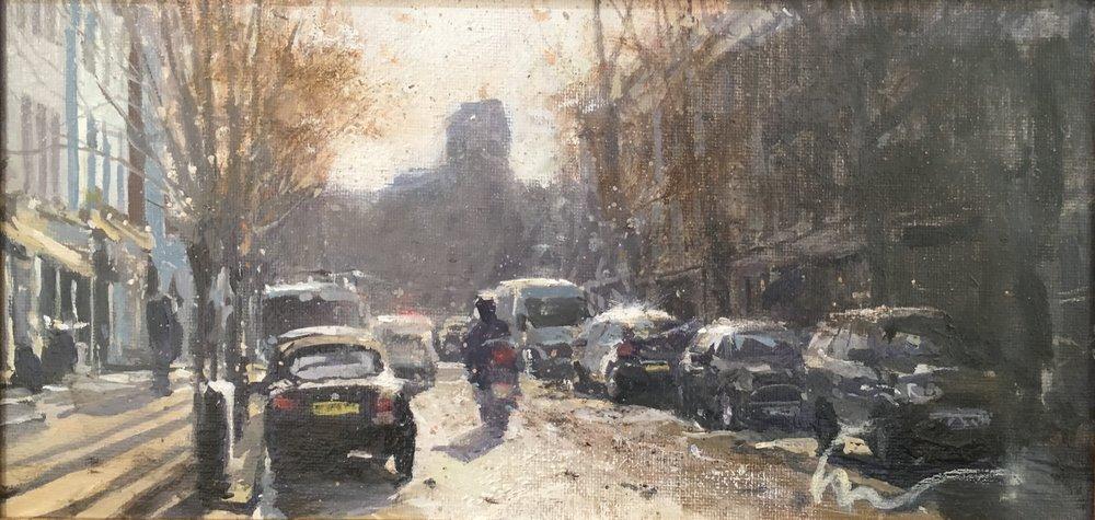 Westbourne Grove, 15 x 30 cm, Oil on Canvas, £600