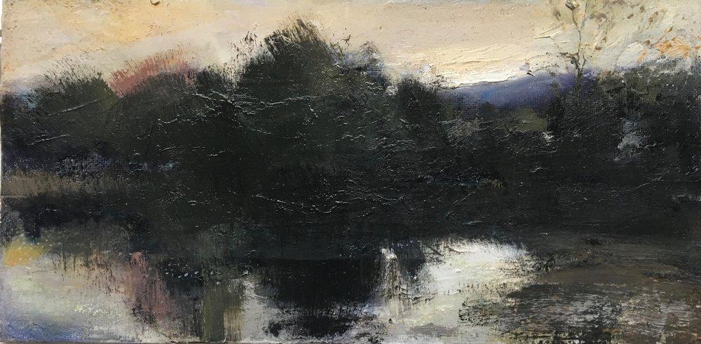 Lakeside, 15 x 30 cm, Oil on Canvas, £600