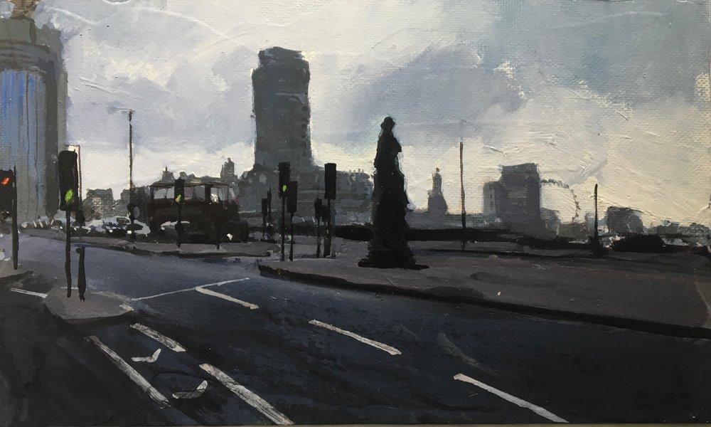 London Eye, 14 x 24 cm, Oil on Canvas, £400