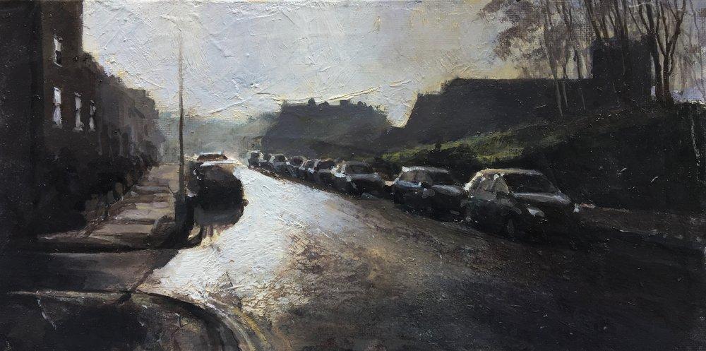 Street Lights, 15 x 30 cm, Oil on Canvas, £600
