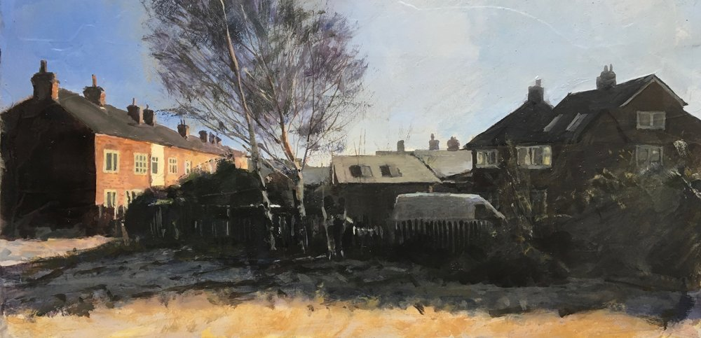 UK Frame, 15 x 30 cm, Oil on Canvas