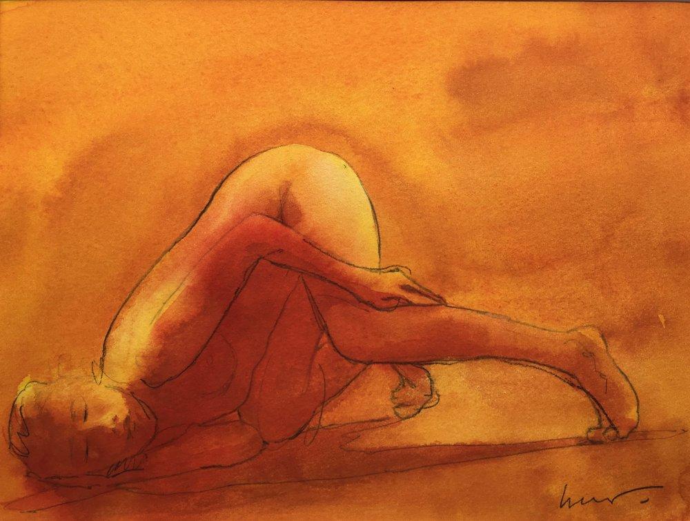 Insomniac, 30 x 40 cm, Watercolour, £300