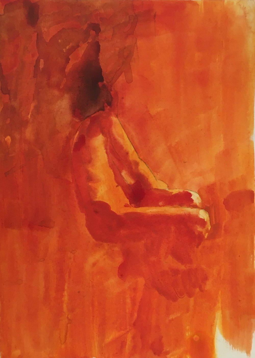 Nowhere Man, 40 x 30 cm, Watercolour, £300
