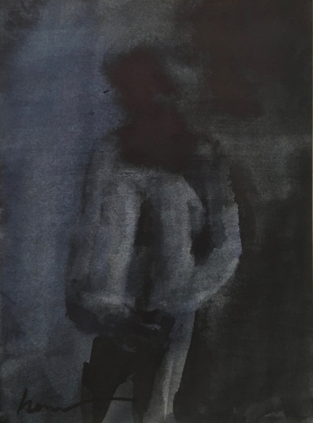 Paranoid, 40 x 30 cm, Watercolour, £300