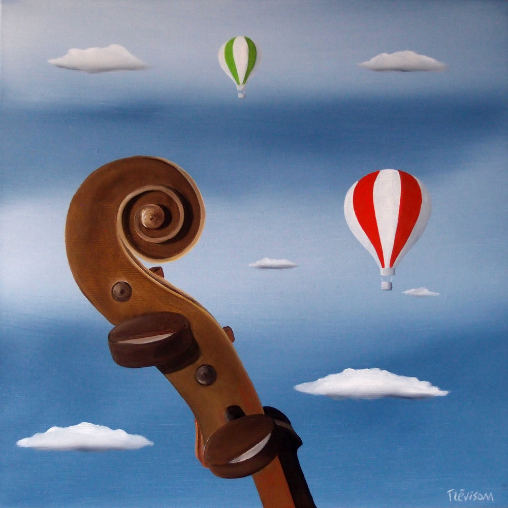 'Music Sky', Oil on canvas, 30 x 30 cm, £400