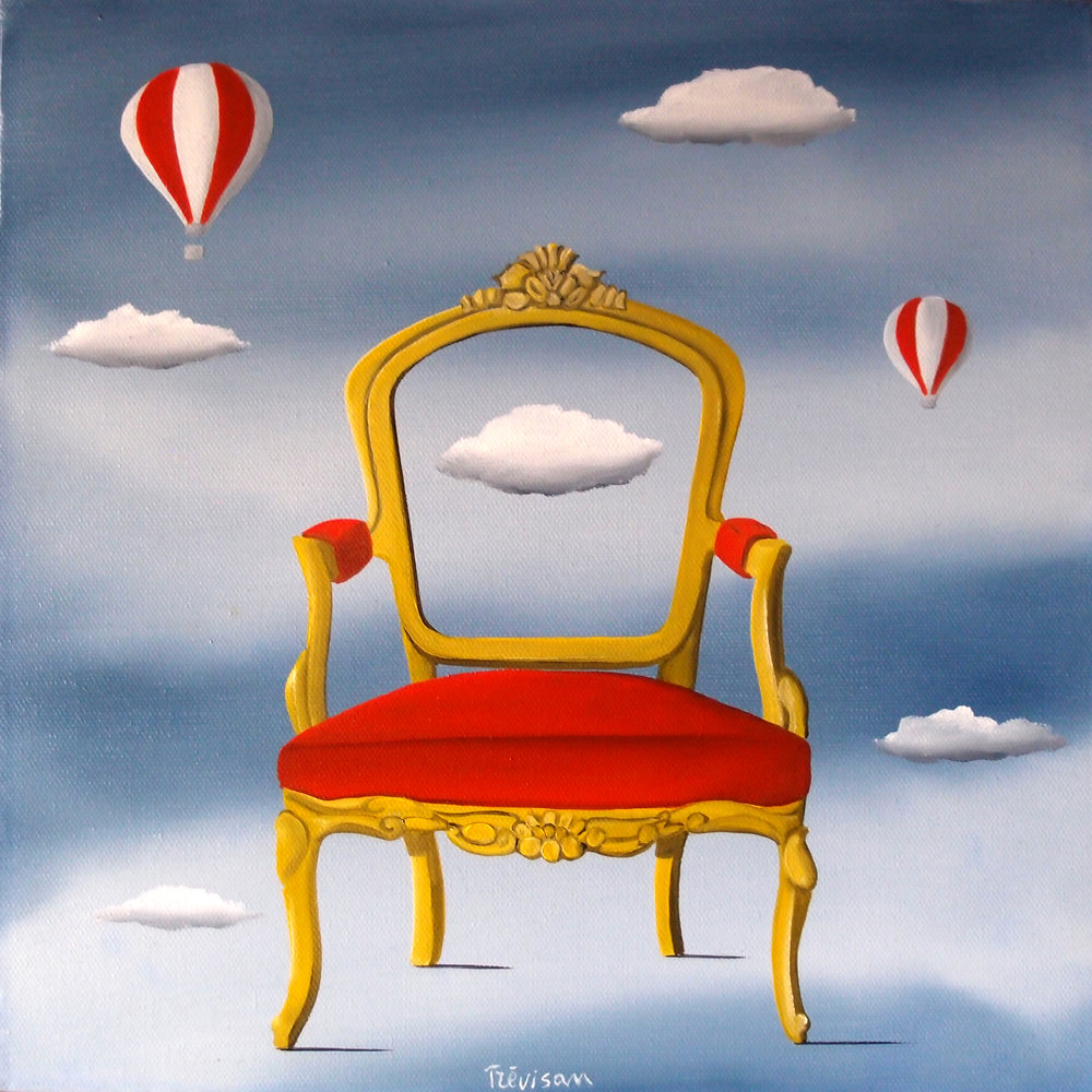 'Prince Cloud', Oil on canvas, 30 x 30 cm, £400