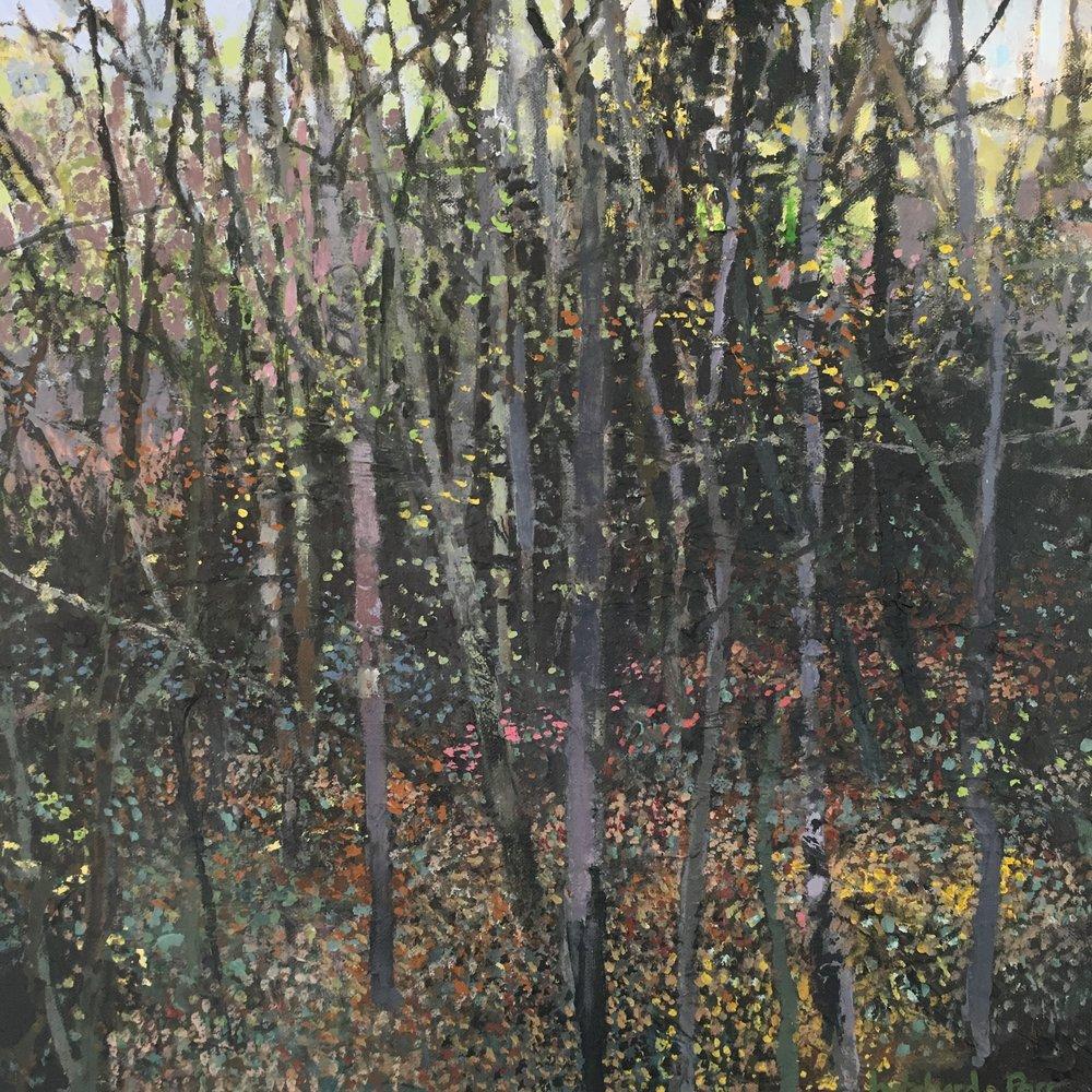 Ten Thousand Leaves, Acrylic on canvas, 40 x 40 cm, £550
