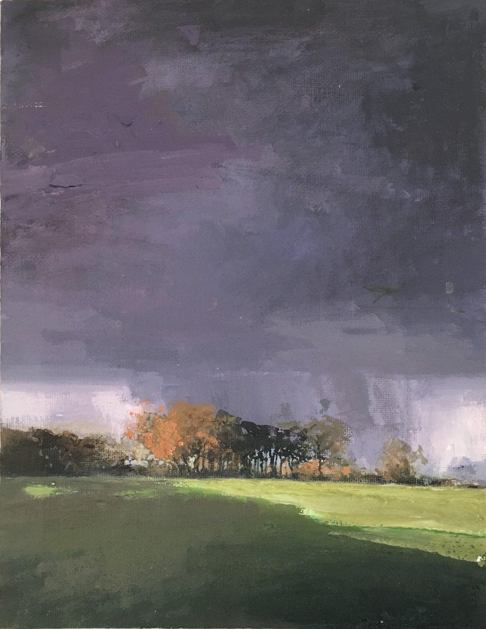 The Tumulus, Acrylic on canvas, 25 x 20 cm, £250
